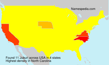 Surname Juburi in USA