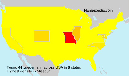 Surname Juedemann in USA