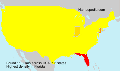 Surname Jukas in USA