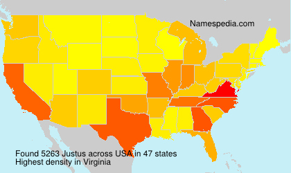 Familiennamen Justus - USA
