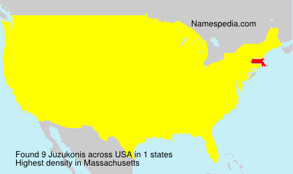 Surname Juzukonis in USA