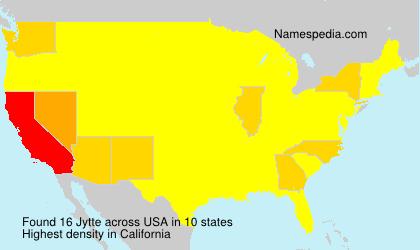 Familiennamen Jytte - USA