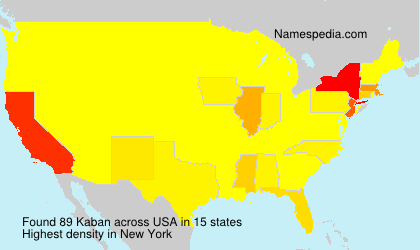 Surname Kaban in USA