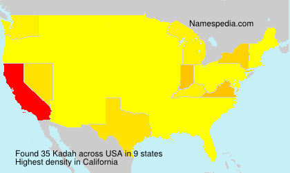Surname Kadah in USA