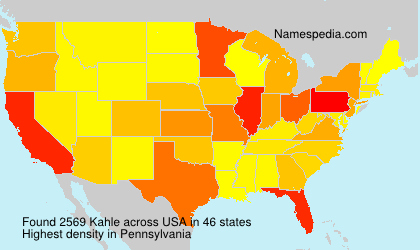Surname Kahle in USA