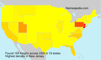 Surname Kaighn in USA