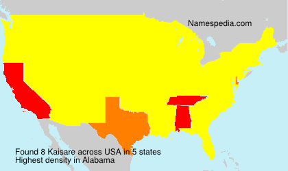 Surname Kaisare in USA