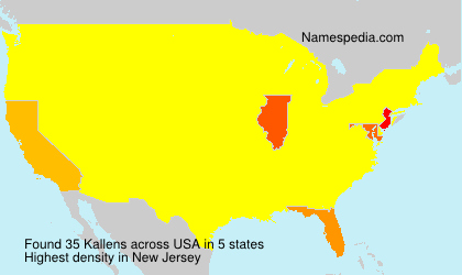 Surname Kallens in USA