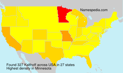 Surname Kalthoff in USA