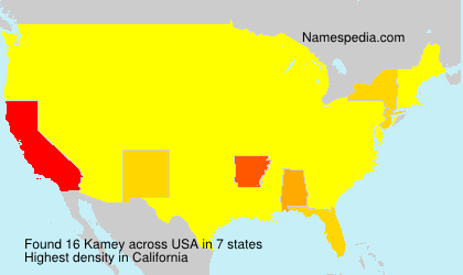Surname Kamey in USA