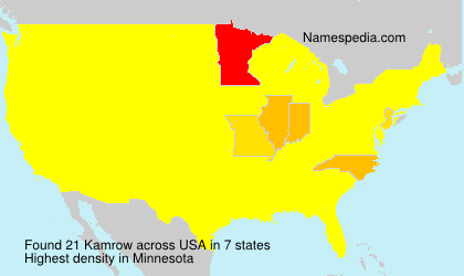 Surname Kamrow in USA