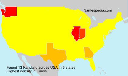 Familiennamen Kandallu - USA