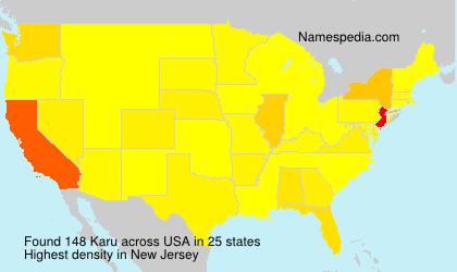Surname Karu in USA