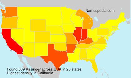 Surname Kasinger in USA