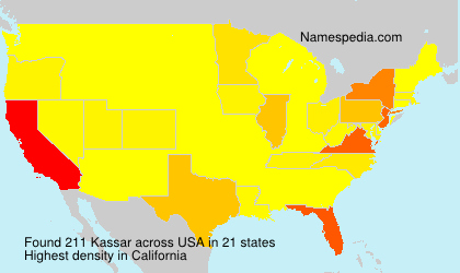 Surname Kassar in USA