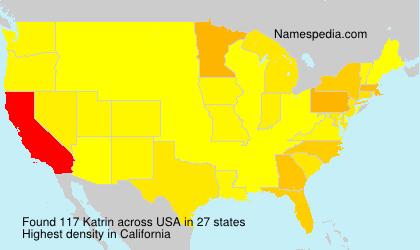 Familiennamen Katrin - USA