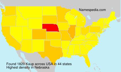 Familiennamen Kaup - USA