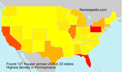 Surname Kauper in USA