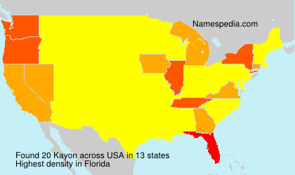 Surname Kayon in USA