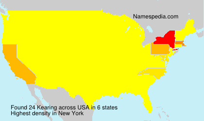Surname Kearing in USA