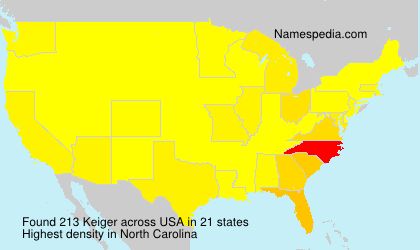 Surname Keiger in USA