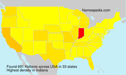 Surname Kellams in USA