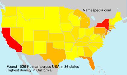 Surname Kelman in USA