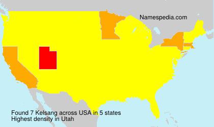 Familiennamen Kelsang - USA