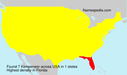 Surname Kempeneer in USA
