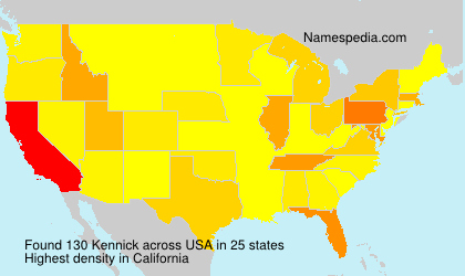 Surname Kennick in USA