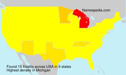 Surname Kestila in USA