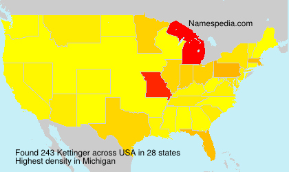 Surname Kettinger in USA