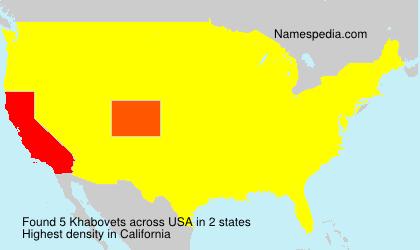 Surname Khabovets in USA