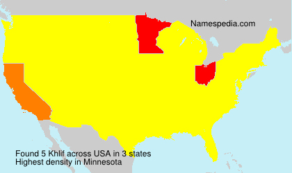 Surname Khlif in USA
