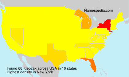 Surname Kiebzak in USA