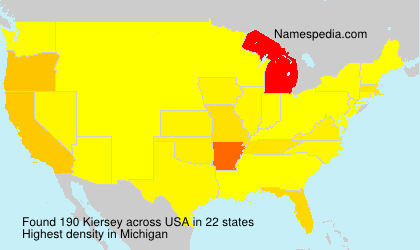 Surname Kiersey in USA