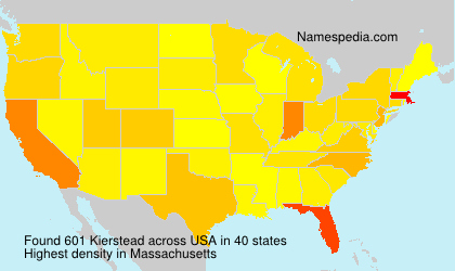 Surname Kierstead in USA