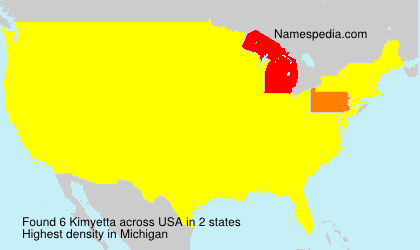 Surname Kimyetta in USA