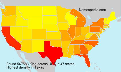 Surname King in USA
