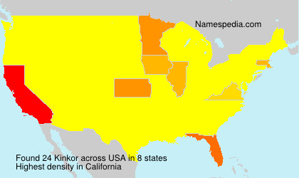 Surname Kinkor in USA