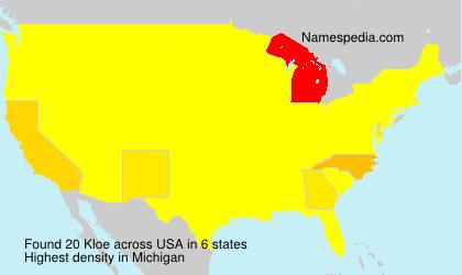 Surname Kloe in USA