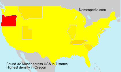 Surname Kluser in USA
