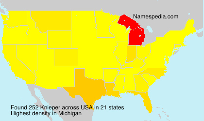Surname Knieper in USA