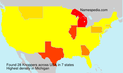 Surname Knoppers in USA
