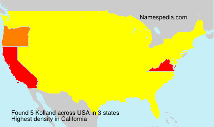Surname Kolland in USA