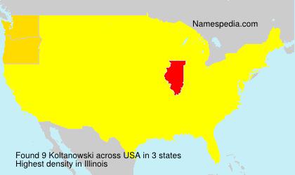 Surname Koltanowski in USA