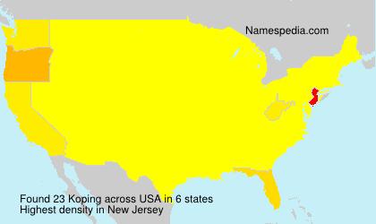 Surname Koping in USA