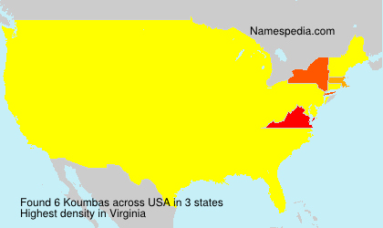 Familiennamen Koumbas - USA