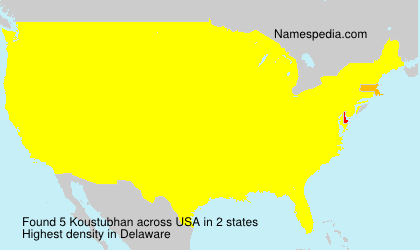 Surname Koustubhan in USA