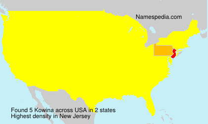 Surname Kowina in USA
